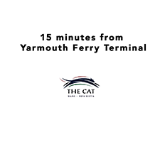 Only 20 minutes from Yarmouth Ferry!